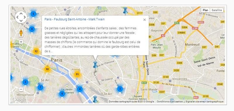 Literary Map of France (Cartographie littéraire de la France)