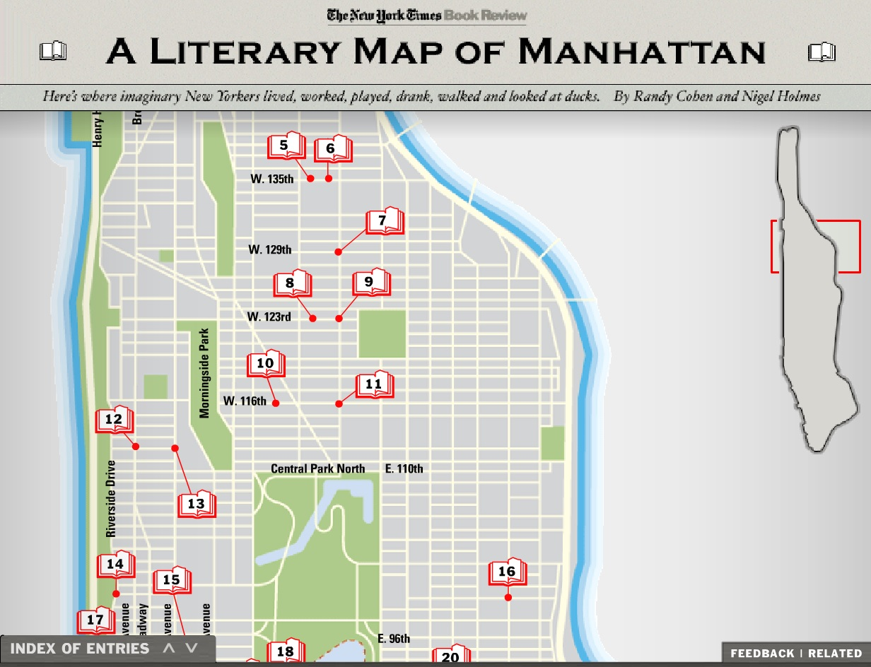 Interactive literary map of manhattan online exhibits for Online house map maker