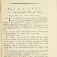 """The plays of William Shakspeare... (1786); """"Winter's Tale Act 1 Scene 1"""""""