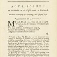 Henry V (Johnson, 1765)