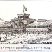 Brewer's Industrial Exhibition: Centennial grounds, Fairmount Park, Phila.: essays on the malt liquor question; [Frontispiece]