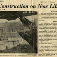 Undergraduate Library Construction Begins