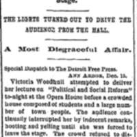 Victoria Woodhull News Clip