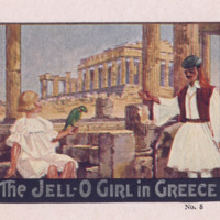 The Jell-O Girl in Greece, no. 1 [Jell-O Recipe Brochures] (1928); p. [1]