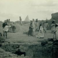 University of Michigan excavation in progress at Karanis, Egypt image 1