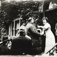McKnight with President Taft on the steps of the Ladies Literary Club