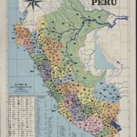 Mapa de la produccion del Peru Ediciones Complementarias Escolares