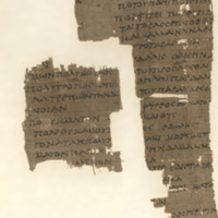 Fragments of a lexicon dealing with Homeric words in πολυ-, πορ-,  and probably ποσ-.  (P. Mich. Inv. 5451)