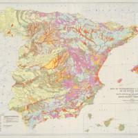 Mapa de vulnerabilidad al la Contaminacion de los Mantos Acuiferos de la Espana Peninsular, Baleares y Canarias.