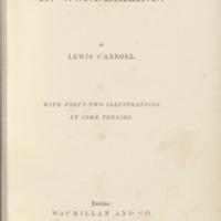 Alice's adventures in Wonderland (1866), [title page]
