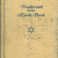 Hadassah Kosher Cook Book