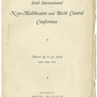 Sixth International Neo-Malthusian and Birth Control Conference