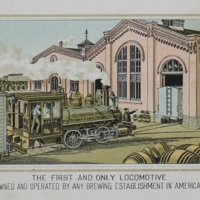 """The Bergner & Engel Brewing Co., Philadelphia. ( """"The First and Only Locomotive..."""")"""