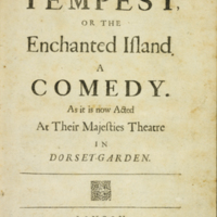 The tempest, or, The enchanted island...; [title page]<br />