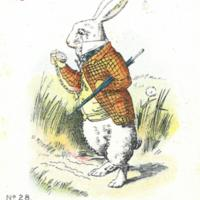 """No. 28. 'Too Late,' Said the Rabbit."""