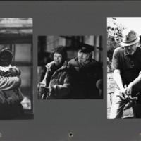 Photographs of Robert Altman, Kathryn Altman, and Shelley Duvall on the set of Popeye(1980).