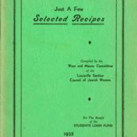 Just a Few Selected Recipes