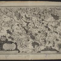 Carte Géométrique des Environs de l'Estang de Longpendu, D'ont Leau Tombe dans l'Ocean et dans la Mediterranée, Comprenant Grand Part du Comté du Charlois
