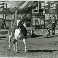 Photograph from the set of Buffalo Bill and the Indians, nd.