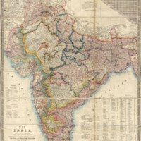 Map of India : constructed with great care and research from all the latest authorities and intended more particularly to facilitate a reference to the civil and military stations image 1