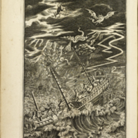 The works of Mr. William Shakespear... (1709); [The Tempest plate]