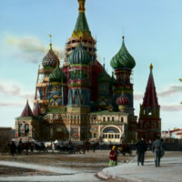 Saint Basil's Cathedral by Postnik Yakovlev and Ivan Barma (architects), 1561