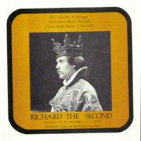 Richard the Second; [program cover]