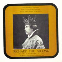 Richard the Second; [program cover]