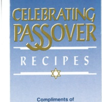 Better Home and Gardens Celebrating Passover Recipes (Compliments of Planters Peanut Oil)