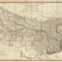 A map of the north part of Hindostan or a geographical survey of the provinces of Bengal, Bahar, Awd, Ellahabad, Agra and Delhi image 1
