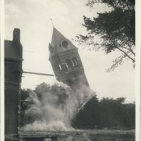 Razing the Clock Tower of the old General Library