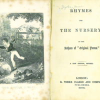 """""""The Little Coward""""/ Rhymes for the nursery, [title page]"""