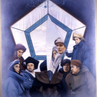Oil Painting of characters from Quintet, 1979.