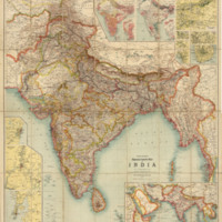 Thacker's reduced survey map of India image 1