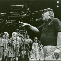 [Photograph of rehearsal for A Rake's Progress]