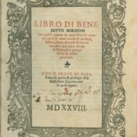Bordone, 1528 (Title Page)