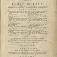 The art of cookery made plain and easy : which far exceeds any thing of the kind yet published : containing ... : to which are added one hundred and fifty new and useful receipts, and also fifty receipts for different articles of perfumery : with a copious index