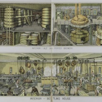 "The Bergner & Engel Brewing Co., Philadelphia. (""Interior -- Ale and Porter Brewery,"" ""Interior -- Bottling House"")"