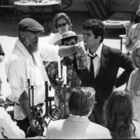Photograph on the set of The Long Goodbye, undated.