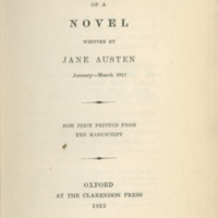 Fragment of a novel written by Jane Austen, January-March 1817 : now first printed from the manuscript