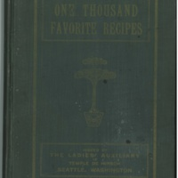 One Thousand Favorite Recipes