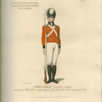 Loyal volunteers of London and environs, infantry and cavalry, in their respective uniforms. : Representing the whole of the manual, platoon, and funeral exercise. In 87 plates
