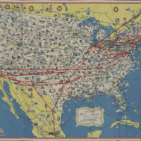 American Airlines System Map