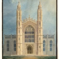 University of Michigan, Ann Arbor, library-chapel 1838-39