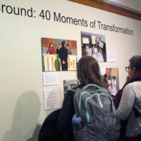 Exhibit opening at Lane Hall