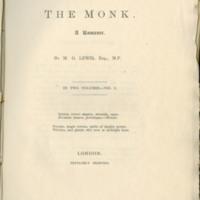 The monk. A romance