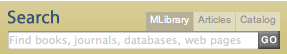 Search box in MLibrary Find Bar