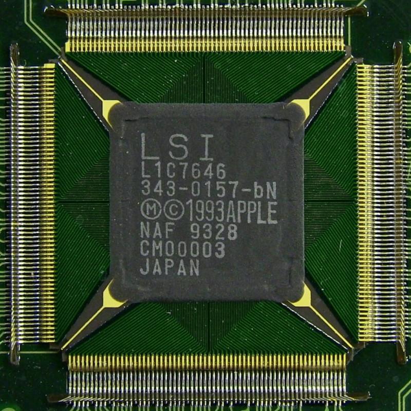 The custom ASIC chip inside the original Apple Newton H1000