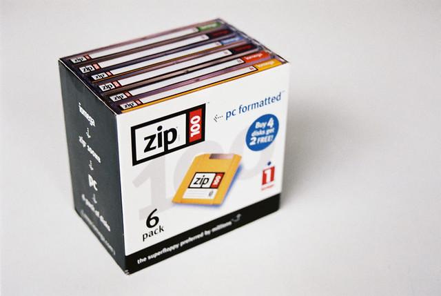 Box of Zip disks