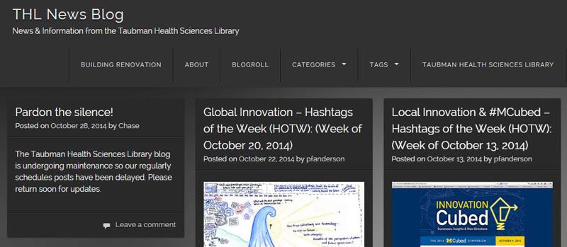 Screen shot of THL WordPress Blog